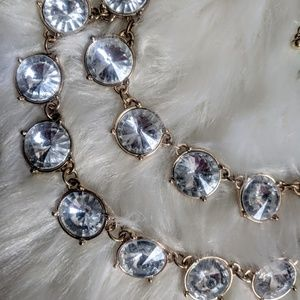 Vintage Jewelry - Rhinestone Statement Necklace